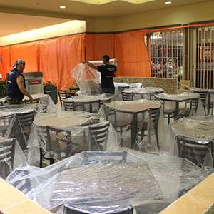 Preparing a food court for strippage