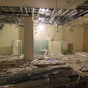 Demolition of an office space