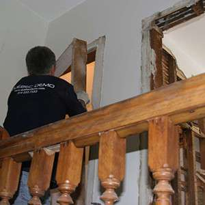 Removal of a residential door frame